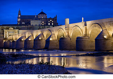Roman Bridge and Mosque Cathedral in Cordoba - The Roman ...