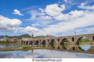 Roman bridge in Ponte de Lima
