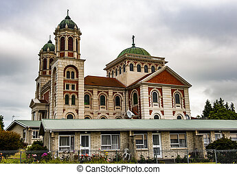 Roman catholic basilica of Sacred Heart in Timaru in the New...