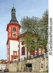 Roman Catholic church, Loket, Czech republic