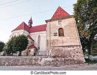 Roman Catholic Church of Saints Peter and Paul in Berezhany. Ukraine.