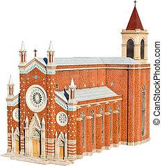 Roman Catholic Church (Venetian Neo-Gothic Style) Isolated...