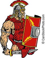 roman centurion with legion shield