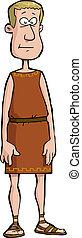 Roman citizen on a white background vector illustration