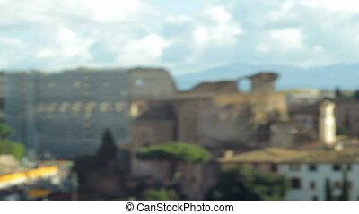 Roman Coliseum Focus in