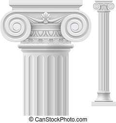 Roman column.  Illustration on white background for design