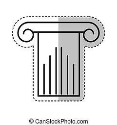 roman column isolated icon
