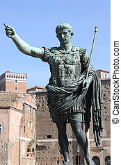 The statue of emperor Augustus in Rome (Italy)