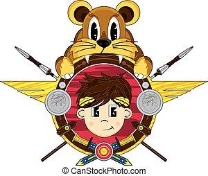 Roman Emperor Lion Badge