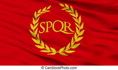 Roman Empire Spqr Flag Closeup View Seamless Loop - Roman...