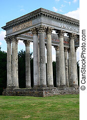 Roman folly in grounds of english estate