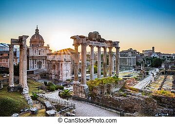 Roman Forum At Sunrise