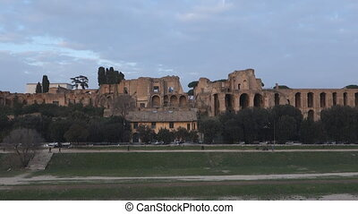 Roman forum - The Roman Forum on Palatine Hill in Rome,...
