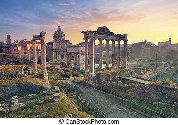 Roman Forum. - Image of Roman Forum in Rome, Italy during ...