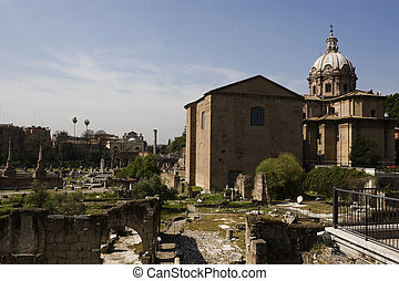 Roman Forum in Rome, Italy - The Roman Forum (Latin: Forum...