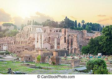 Roman Forum. Rome, Italy. Rome landmark