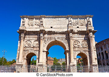 Roman Forum - Arch of Septimius Severus in famous ancient...