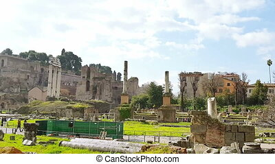 Roman forum - The Roman Forum, Roman landmark, the ruins