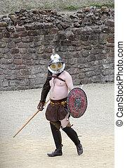Roman Gladiator ready to fight