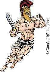 Roman Gladiator Warrior