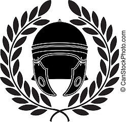 roman helmet. stencil. second variant