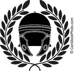 roman helmet - roman helmet. stencil. second variant