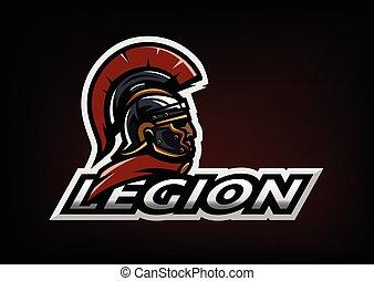 Roman Legionnaire logo on a dark background.