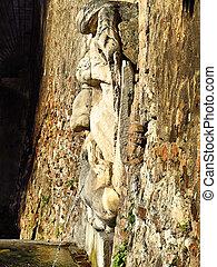 Roman mask fountain in Rome