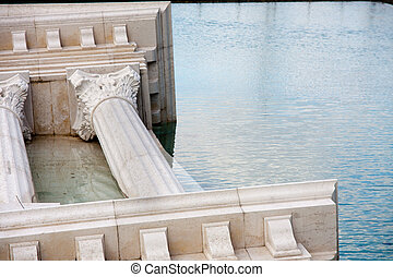 roman monument sunk in water