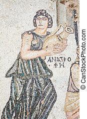 Roman mosaic, bath of Archilles