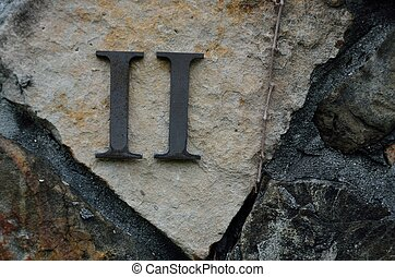 Roman Numeral II - Two - The Roman number II or Two on a ...