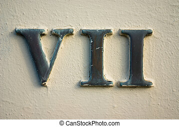 Roman numeral VII - House or office number 7 on street