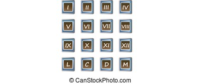 Roman numerals buttons