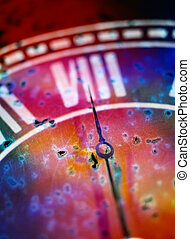 Roman Numerals on a Clock - Close-up of Roman Numerals on a...