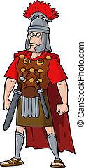 Roman officer on a white background vector illustration