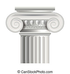 Roman or greek column vector illustration - Roman or greek...