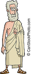Roman philosopher on a white background vector illustration