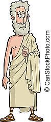 Roman philosopher on a white background vector illustration