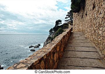 Roman road of the costa brava