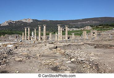 Roman ruin Baleo Claudia in Bolonia, Andalusia, southern Spain