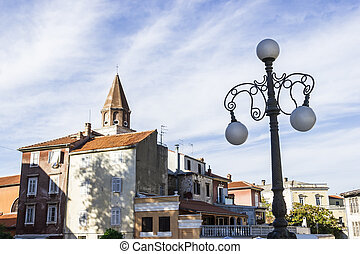 Roman ruins and St. Mary church in Zadar, Croatia