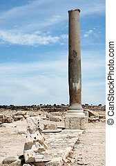 Roman Ruins at Kourion, Cyprus, a vertical picture