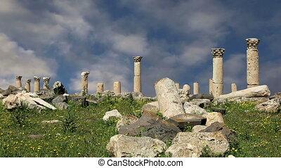 Roman ruins at Umm Qais (Umm Qays), Jordan, Middle East --is...