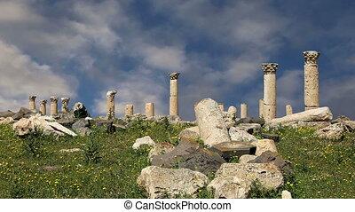Roman ruins at Umm Qais,Jordan - Roman ruins at Umm Qais...
