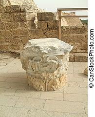 Roman ruins in Caesarea, Israel