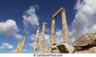 Jordanian city of Jerash - Roman ruins in the Jordanian city...