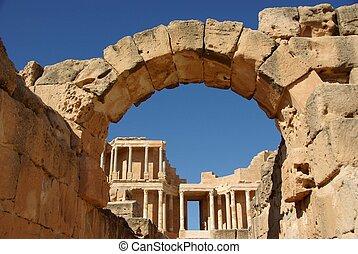 Roman ruins of Sabratha, in Libya