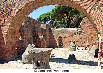 Roman ruins - The discovery of an ancient settlement Roman:...