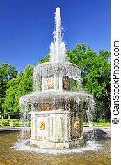 "roman"", saint-petersburg, pertergof, rússia, fountain"""