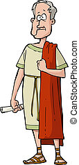 Roman senator on a white background vector illustration